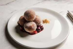 Doughnuts with berry marmalade.